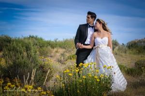 foto de la sesion post boda de estefi y denis por anibal alvarez en puerto madryn